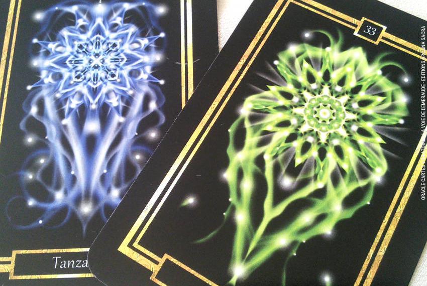 La Voie de l'Emeraude Oracle Cartes de La Blanche Dragonne Review - Graine d'Eden Développement personnel, spiritualité, tarots et oracles divinatoires, Bibliothèques des Oracles, avis, présentation, review tarot oracle , revue tarot oracle