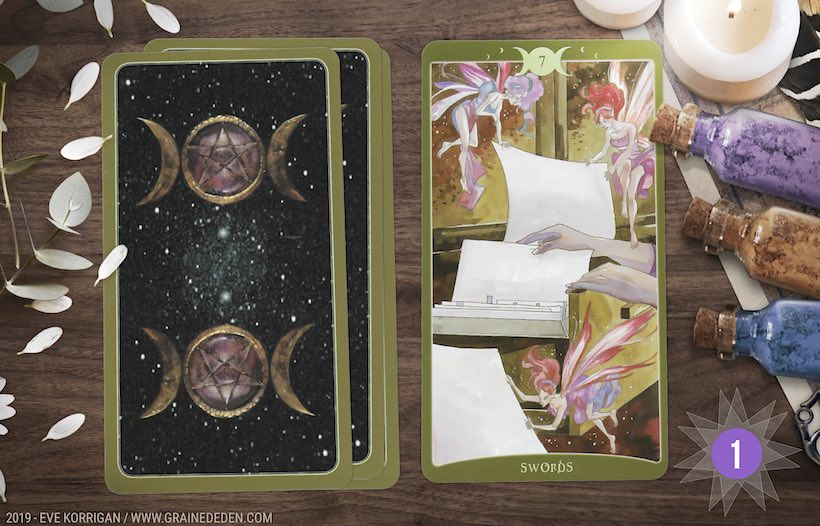 Grand Taroscope 2019 - Votre guidance de l'Année avec The Book of Shadows de Barbara Moore - Graine d'Eden Développement personnel, spiritualité, tarots et oracles divinatoires, Bibliothèques des Oracles, avis, présentation, review tarot oracle , revue tarot oracle
