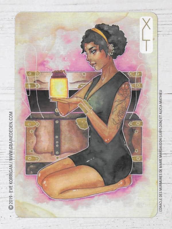 L'Oracle des Murmures de Marie Marsaudon (Lubyloon) et Alicia Mathieu (Ash-Coloured) review et avis - Graine d'Eden Développement personnel, spiritualité, tarots et oracles cartes divinatoires, Bibliothèques des Oracles, avis, présentation, review , revue